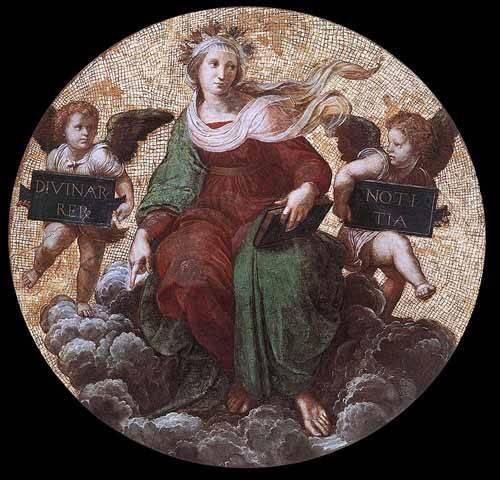 alte-karten-und-zeichnungen - Stanza della Segnatura - Theology - Raphaël, Sanzio da Urbino Raffael