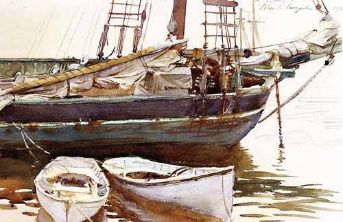 alte-karten-und-zeichnungen - Barco - Sargent, John Singer