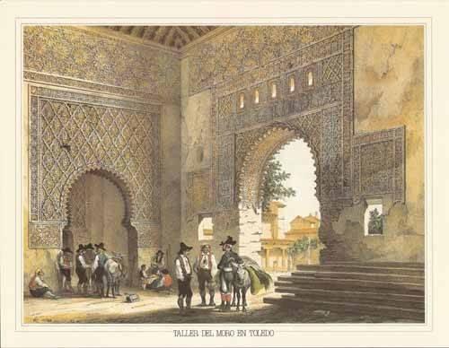 alte-karten-und-zeichnungen - Taller del moro en Toledo - Villaamil, Jenaro Perez de