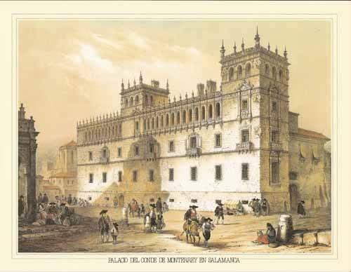 alte-karten-und-zeichnungen - Palacio del Conde de Monterrey en Salamanca - Villaamil, Jenaro Perez de