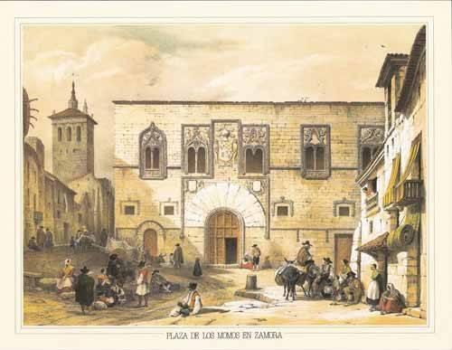 alte-karten-und-zeichnungen - Plaza de los Momos en Zamora - Villaamil, Jenaro Perez de