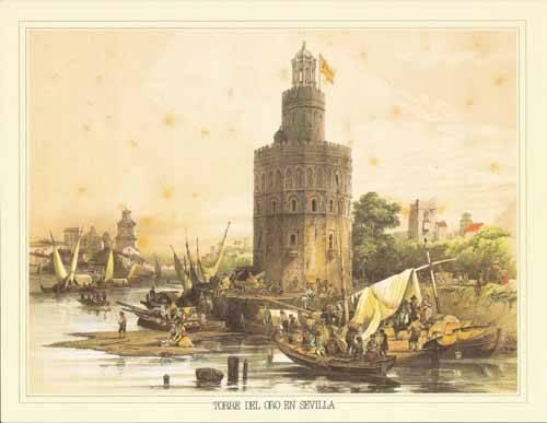 alte-karten-und-zeichnungen - Torre del Oro en Sevilla - Villaamil, Jenaro Perez de