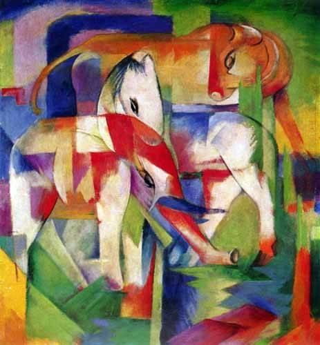 kinderzimmer - Elefante, caballo y vaca - Marc, Franz