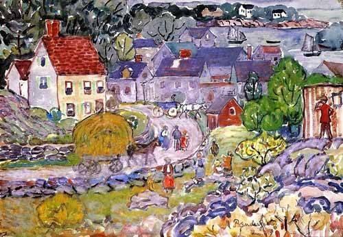 kinderzimmer - The Hay Cart - Prendergast, Maurice
