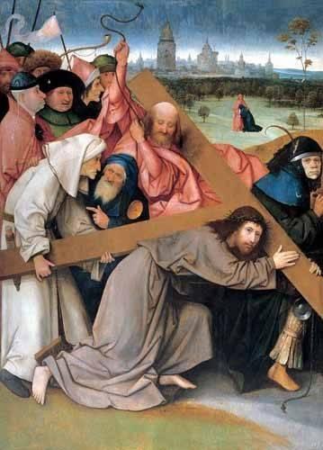 religioese-gemaelde - Christ portant la croix - Bosco, El (Hieronymus Bosch)