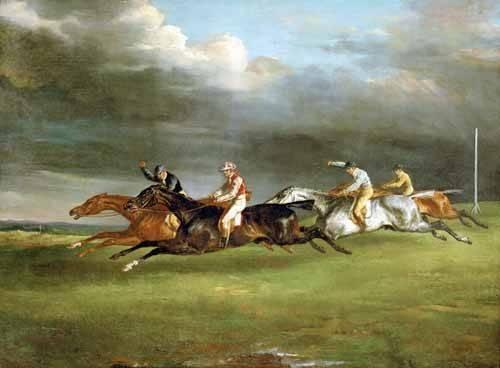 tiermalereien - Carrera de caballos en Epsom - Gericault, Theodore
