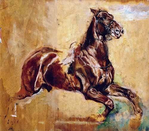 tiermalereien - Estudio de caballo - Meissoner, Jean Louis