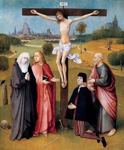 religioese-gemaelde - La Crucifixión - Bosco, El (Hieronymus Bosch)