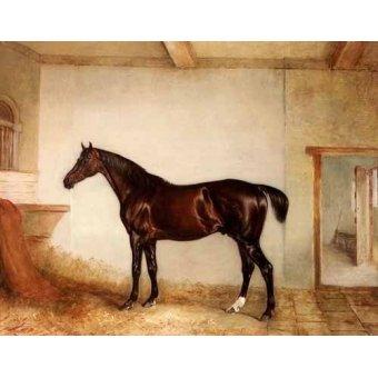 Tiermalereien - A Bay Hunter in a Loose Box - Ferneley I, John