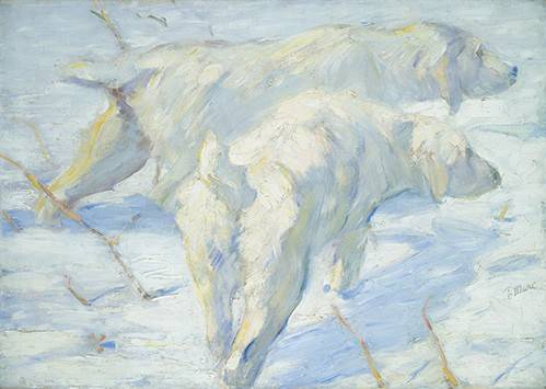 tiermalereien - Perros pastores siberianos - Marc, Franz