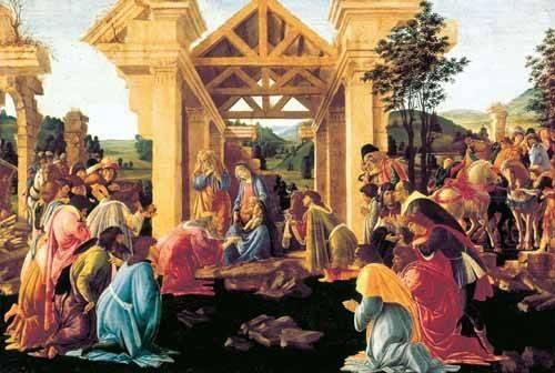 religioese-gemaelde - Adoración de los Reyes Magos - Botticelli, Alessandro
