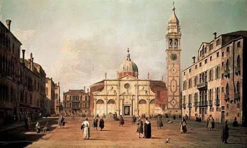 landschaften-gemaelde - Venecia, -El campo Santa Maria Formosa - Canaletto, Giovanni A. Canal
