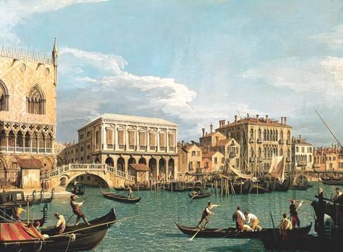 seelandschaft - La Mole vista desde San Marco - Canaletto, Giovanni A. Canal