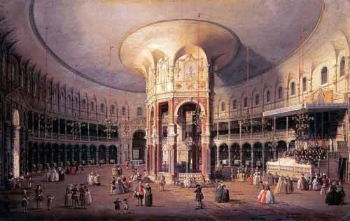 landschaften-gemaelde - Interior de la Rotonda - Canaletto, Giovanni A. Canal