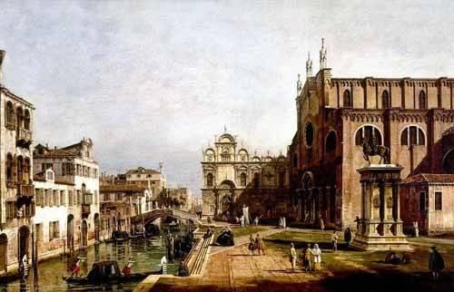 landschaften-gemaelde - Vista de Venecia, Iglesia de Santi Giovani - Canaletto, Giovanni A. Canal