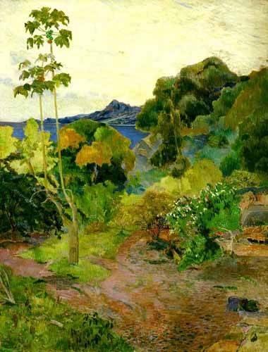 landschaften-gemaelde - Paisaje de la Martinica - Gauguin, Paul