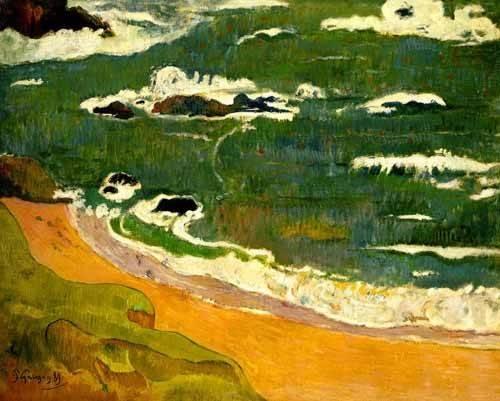 seelandschaft - Playa de Le Poldu - Gauguin, Paul