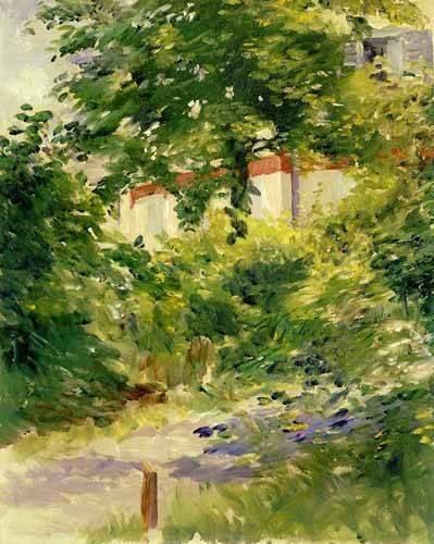 landschaften-gemaelde - Un coin du jardin de Rueil - Manet, Eduard