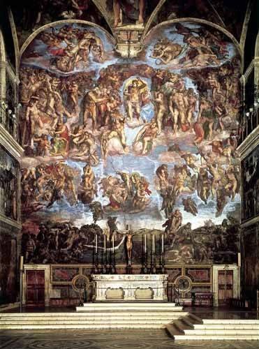 religioese-gemaelde - Retable du jugement final - Buonarroti, Miguel Angel