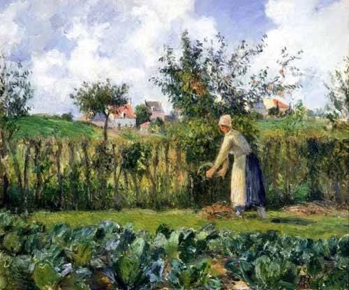 landschaften-gemaelde - Taille de haie - Pissarro, Camille
