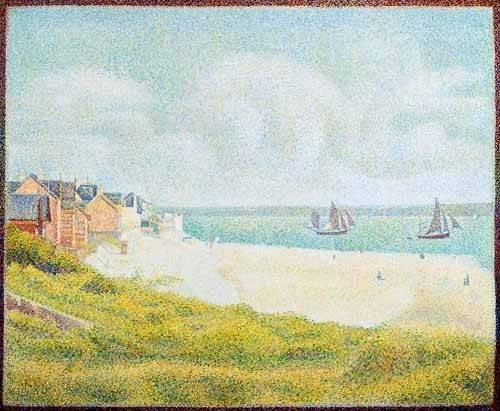 seelandschaft - Vue du Crotoy, en amont, 1889 - Seurat, Georges