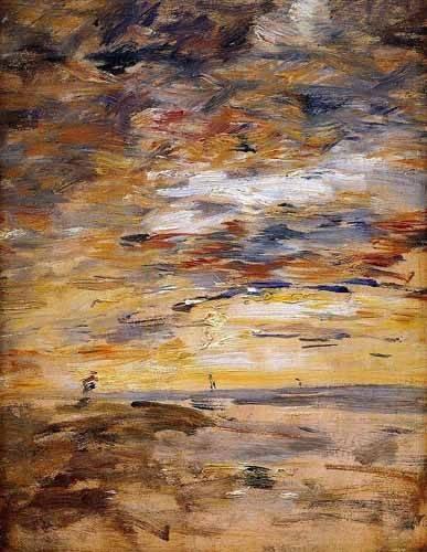 abstrakte-gemaelde - Sky at sunset - Boudin, Eugene