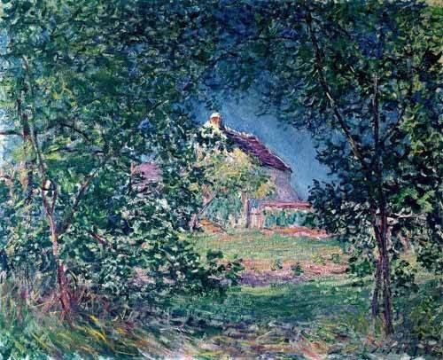landschaften-gemaelde - Lindero del bosque en la primavera - Sisley, Alfred