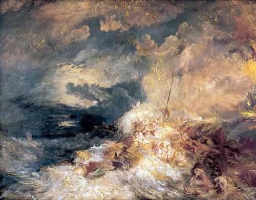 seelandschaft - Feu à mer - Turner, Joseph M. William