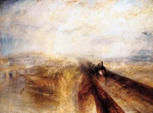 landschaften-gemaelde - Regen, Dampf und Geschwindigkeit - Turner, Joseph M. William