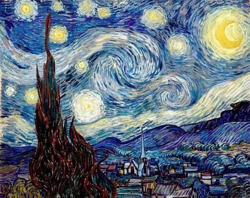 landschaften-gemaelde - Sternennacht, 1888 - Van Gogh, Vincent