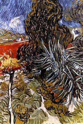 landschaften-gemaelde - Dans le Jardin du Docteur Paul Gachet - Van Gogh, Vincent