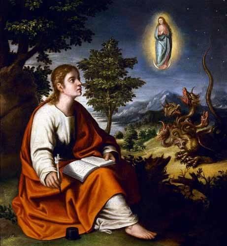 religioese-gemaelde - Visión de San Juan Evangelista - Cotan, Juan Sanchez