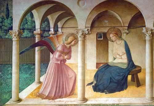 religioese-gemaelde - Annonciation - Fra Angelico, G. Da Fisole