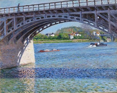 landschaften-gemaelde - El puente de Argenteuil y el Sena - Caillebotte, Gustave
