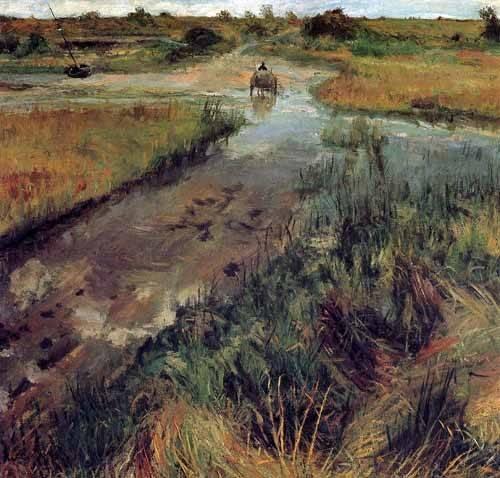 landschaften-gemaelde - Swollen Stream at Shinnecock - Chase, William