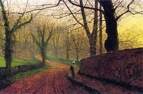 landschaften-gemaelde - Stapleton Park near Pontefract - Grimshaw, John Atkinson