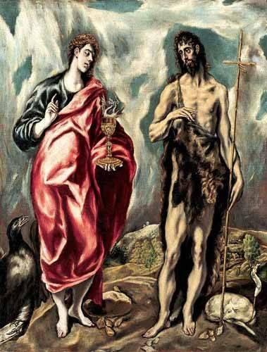 religioese-gemaelde - Los Santos Juanes (1605-10) - Greco, El (D. Theotocopoulos)