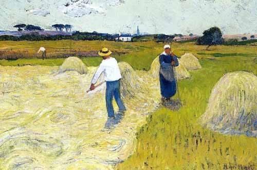 landschaften-gemaelde - Haymaking - Moret, Henri