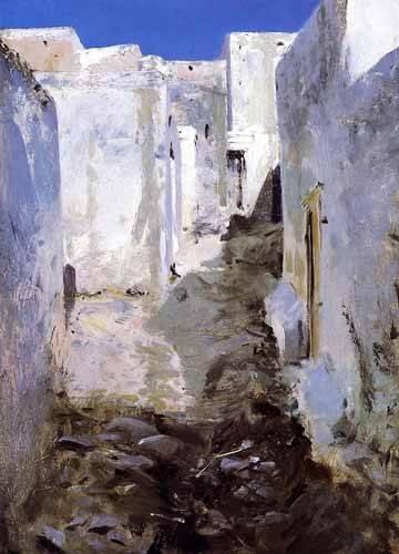 landschaften-gemaelde - Calle de Algiers - Sargent, John Singer