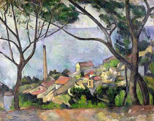 seelandschaft - La mer à l'Estaque - Cezanne, Paul