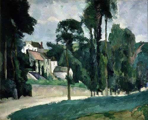 landschaften-gemaelde - La route de Pontoise - Cezanne, Paul
