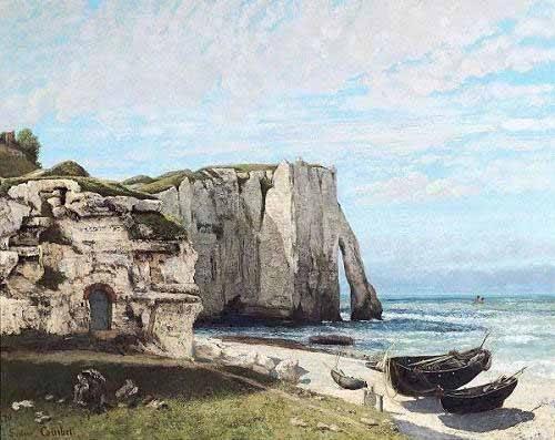 seelandschaft - Falaises d'Etretat après l'orage - Courbet, Gustave