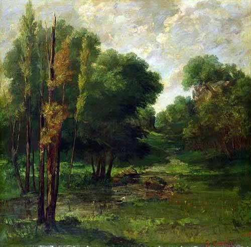 landschaften-gemaelde - Paisaje de un bosque - Courbet, Gustave