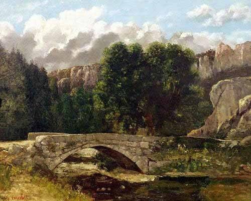 landschaften-gemaelde - El puente de Fleurie, Suiza (1873) - Courbet, Gustave