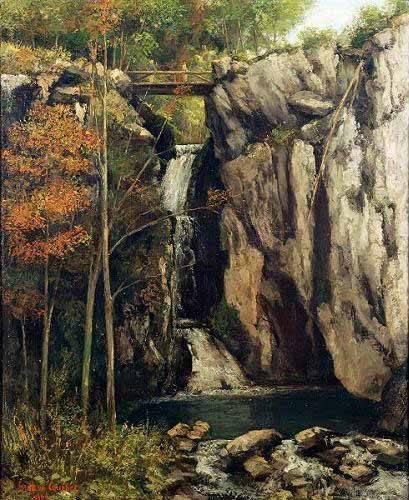 landschaften-gemaelde - Le Gour de Conche, 1864 - Courbet, Gustave