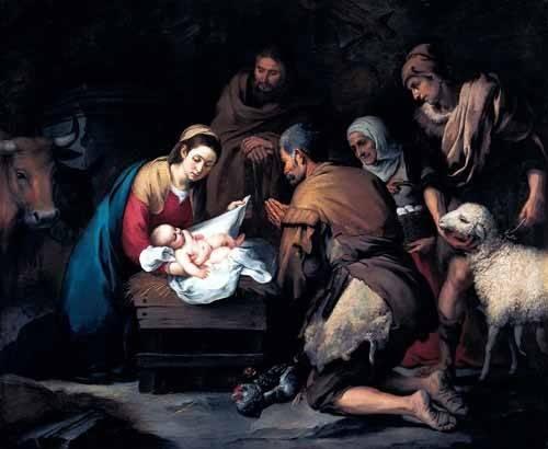 religioese-gemaelde - Adoración de los pastores - Murillo, Bartolome Esteban