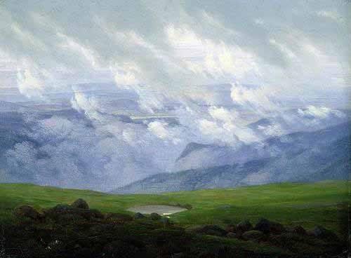 landschaften-gemaelde - Treibende Wolken - Friedrich, Caspar David