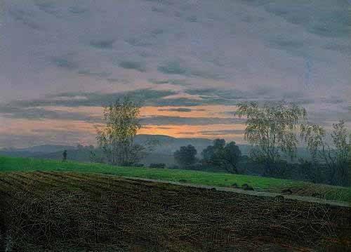 landschaften-gemaelde - Gepflügtes Feld, 1830 - Friedrich, Caspar David