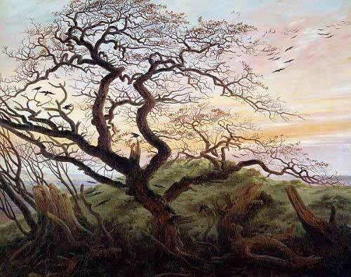 landschaften-gemaelde - Der Baum der Krähen - Friedrich, Caspar David