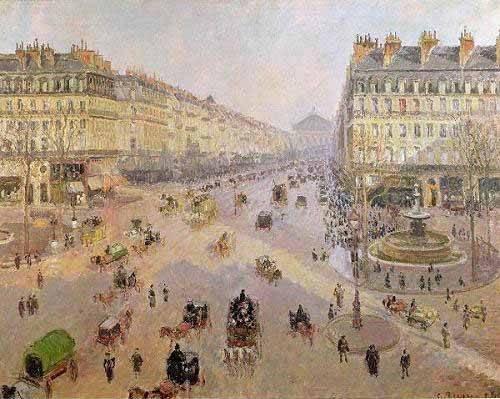 landschaften-gemaelde - Avenue de L'Opera, Paris, 1898, París - Pissarro, Camille